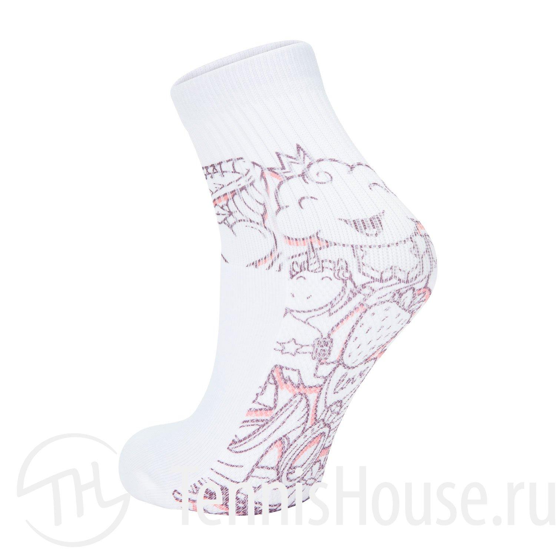 Носки для девочек Babolat GRAPHIC Цвет Белый/Виноградный 5GA1451-1037